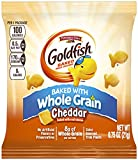 PEPPERIDGE FARM 100 Calorie Whole Grain Cheddar Goldfish, 100-Count Pouches