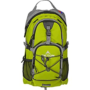 TETON Sports Oasis 1100 2 Liter Hydration Backpack Perfect for Skiing, Running, Cycling, Biking, Hiking, Climbing, and Hunting; 2 L Water Bladder Included; Free Rain Cover Included; Bright Green
