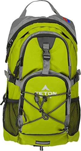 Hydration Camelback Systems (Teton Sports Oasis 1100 2 Liter Hydration Backpack; Day Pack Perfect for Hiking, Running, Cycling, Biking, Climbing, and Hunting; 2 L Water Bladder Included; Sewn-in Rain Cover; Bright Green)