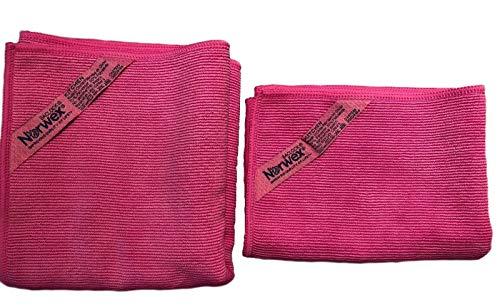 Norwex Textured Kitchen Cloth & Kitchen Towel Set - Fuchsia (Limited Edition)