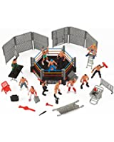Liberty Imports Mini Wrestling Ring Playset with Figures & Accessories