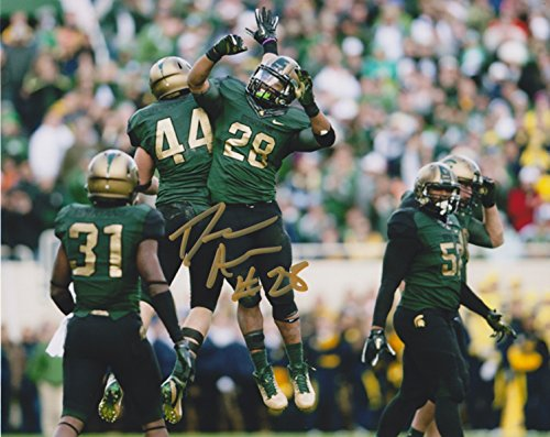 Denicos Allen Michigan State Spartans NCAA 8x10'' Autograph Photo - Combat Uniform ()