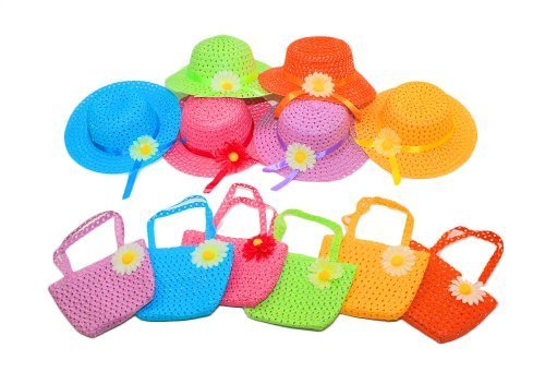Dr.Luck Cutie Collections Girls Straw Baby Hat (Daisy)