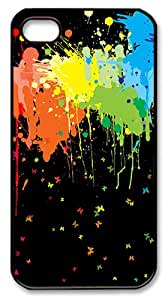 Color Splash PC Case Cover for iPhone 4 and iPhone 4s ¨CBlack
