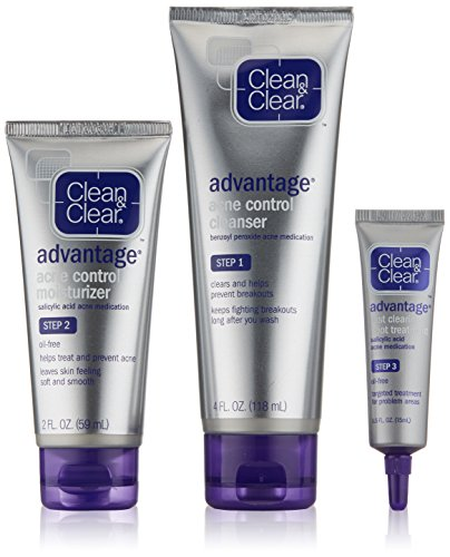 Clean & Clear Advantage Acne Treatment Control Kit For Clear Skin by Clean & Clear