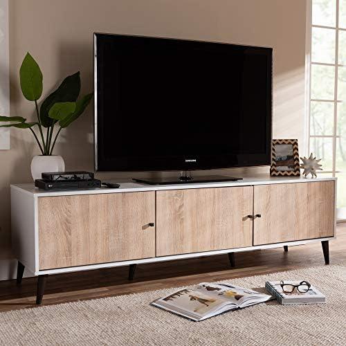 Baxton Studio Bastien Mid-Century Modern 6-Shelf TV Stand