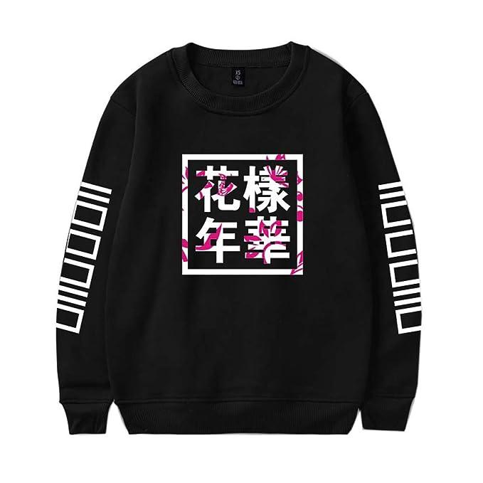 Haililais BTS Young Forever Sudaderas Suelto Camisetas de Manga Larga Sueter Cuello Redondo Ocasionales Sueter Running Deportivo Tops para Mujeres y ...