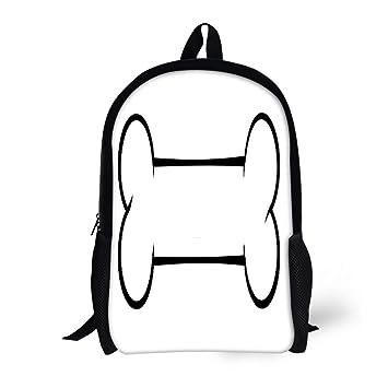 Amazoncom Pinbeam Backpack Travel Daypack Black And White