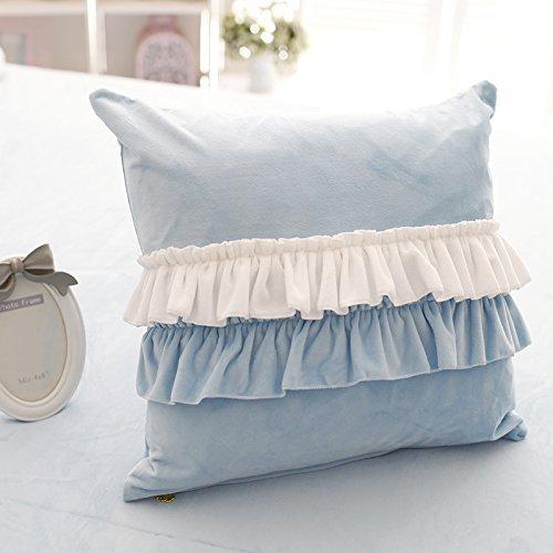 (Throw Pillows, Blue Pillows)FADFAY Girls Bedroom Throw Pillows Decorative Bed Pillows,4 Pieces-Blue B0197ZYYD2 Throw Pillows|Blue Pillows Blue Pillows Throw Pillows
