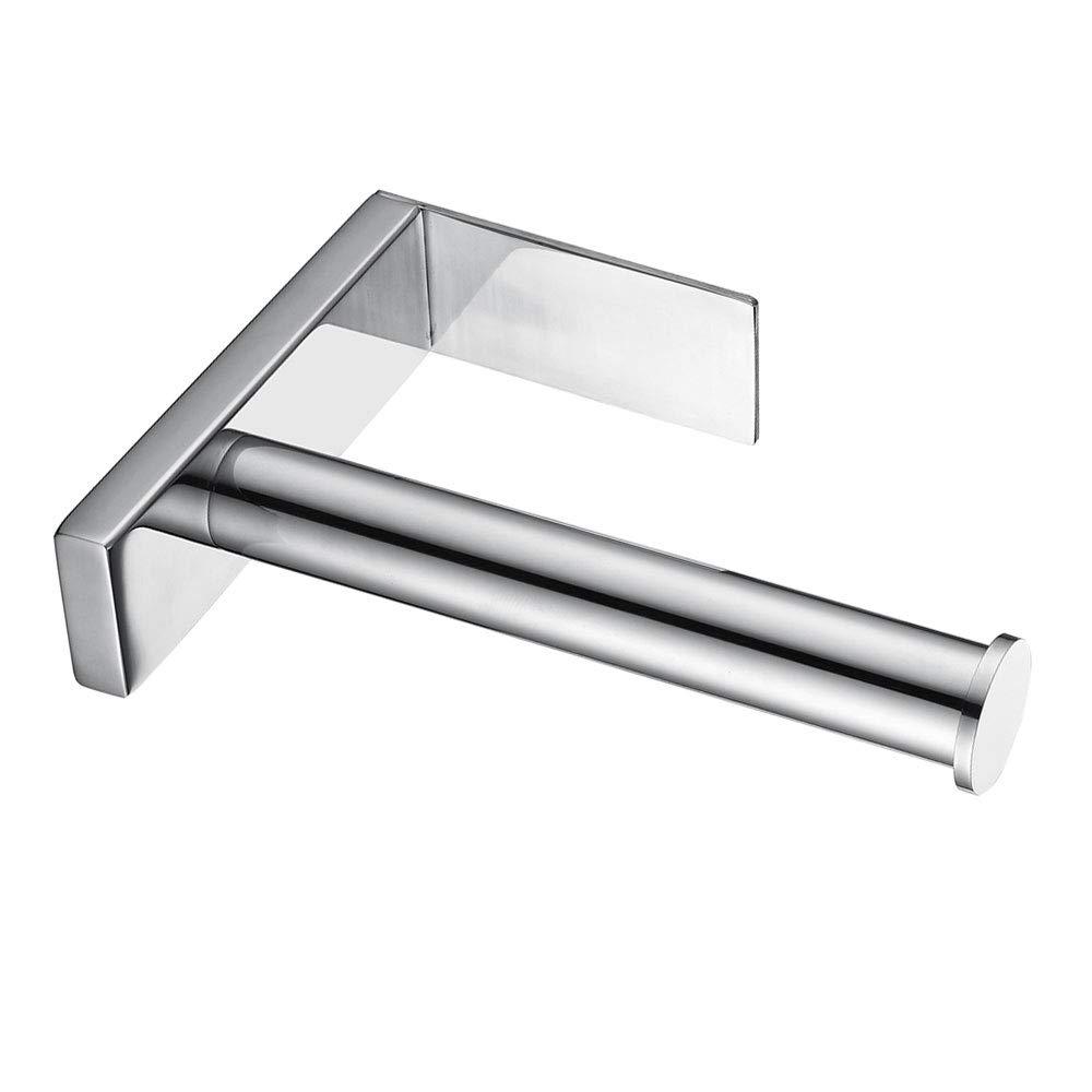Celbon Porta carta igienica autoadesivo verticale Portarotolo di carta igienica in acciaio INOX finitura cromata Acciaio inossidabile