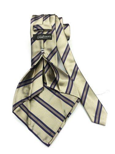 Real Luxury Napoli Corbata de regimiento, 7 pliegues, seda, color ...