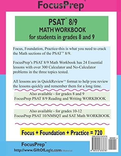 PSAT 8/9 MATH Workbook: for students in grades 8 and 9. (Focusprep ...