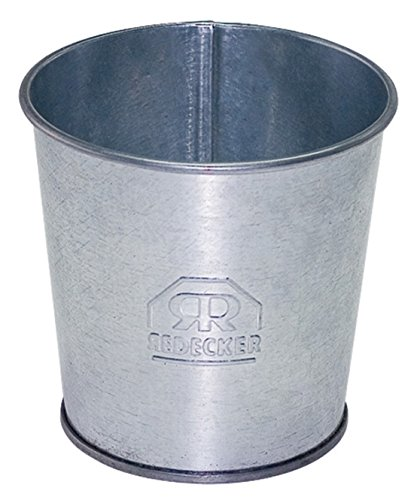 [해외]レデッカ? (REDECKER) 양철 캐디 (물통) 실버 980854 / Redecker (redecker) tinplate glove compartment (bucket) Silver 980854