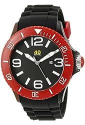 40Nine Unisex 40NINE01/BLACK/RED Extra Large 50mm Analog Display Japanese Quartz Black Watch