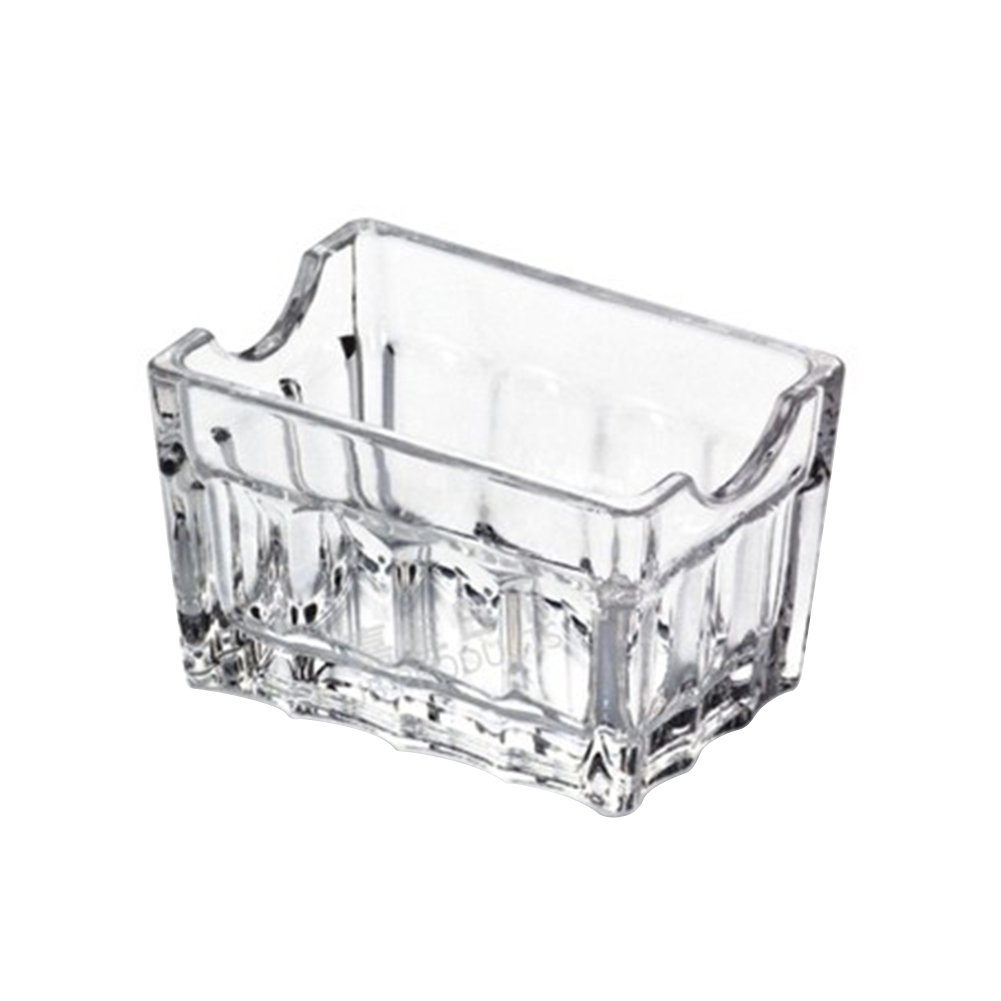 Frjjthchy Transparent Acrylic Sugar Packet Holder Perfect Container for Sweeteners (3.15x2.17x2.05 In)
