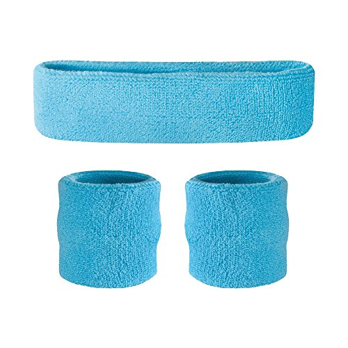 Kids Sweatband Set (1 Headband / 2 Wristbands), Choice of Colors