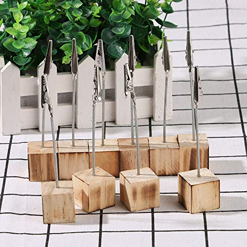 Photo Clip String Lights Wooden Wedding menu memo Paper Note Picture Table Card Number Clip Holder Home Garden Kitchen Arts Crafts -