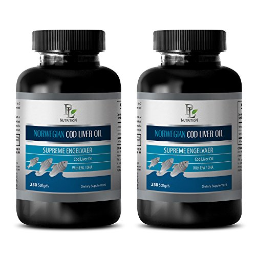 Skin health - NORWEGIAN COD LIVER OIL with Vitamins A & D3/EPA & DHA - Oil liver - 2 Bottles 500 Softgels by PL NUTRITION (Image #8)