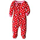 Disney Baby-Girls Newborn Minnie All Over One Piece Blanket Sleeper, Red, 0-3 Months
