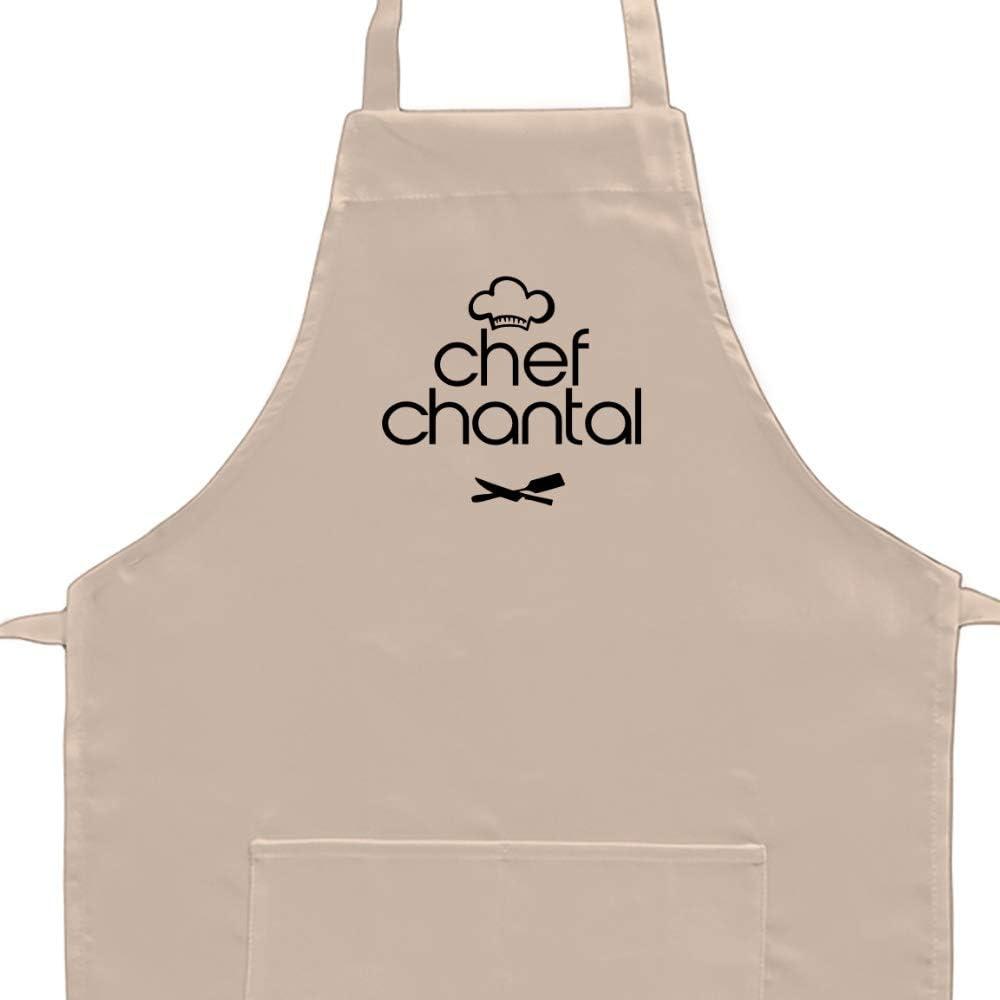 Adulte Eddany Apron Chef Chantal Kitchen Utensils Broderie Tablier