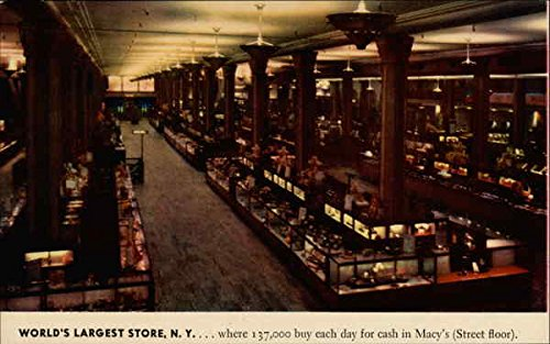 World's Largest Store, N.Y New York, New York Original Vintage - Macy's Largest