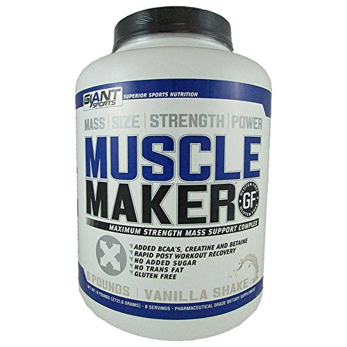 Giant Sports Muscle Maker Nutrition  Vanilla  6 Pound