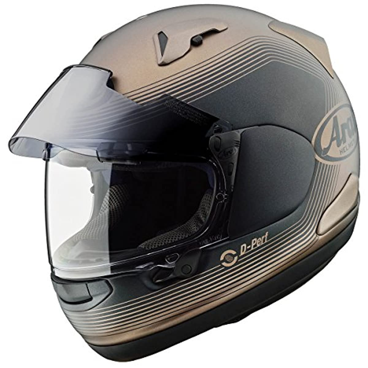 [해외] 아라이 (ARAI 아라이 헬멧) 풀 페이스 헬멧 아스 트럴-X 쉐이드 샌드 54CM (핀 그린 씨트120(클리어)부착) ASTRALX-SHADE-SAND54