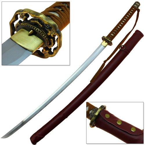 Japanese Ryukyu Suna Hana 1095 HC Functional Katana Sword Leather Wrapped
