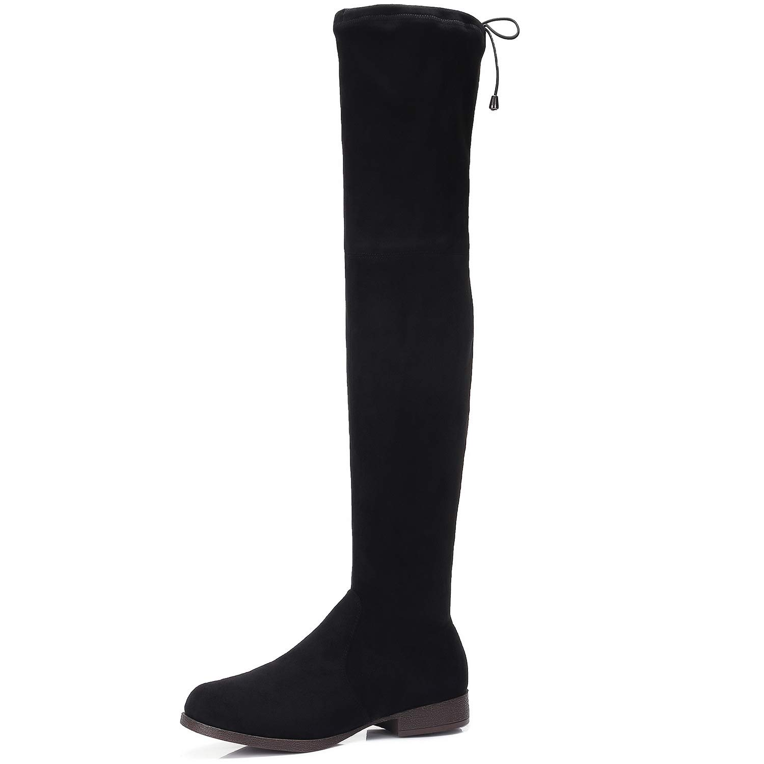 87347a0517e CAMEL CROWN Women's Trendy Over The Knee Boots Sexy Drawstring ...