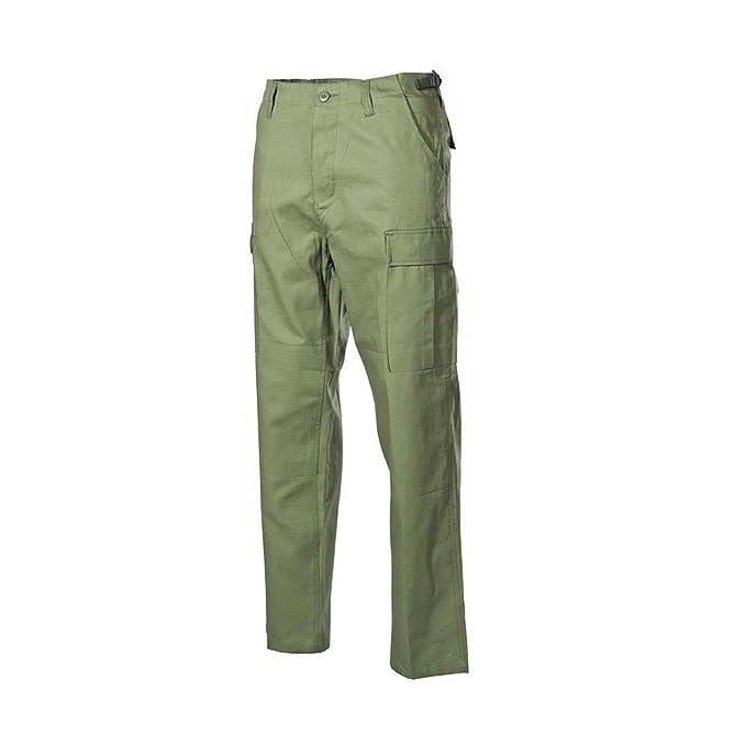 Pantaloni cargo in verde oliva