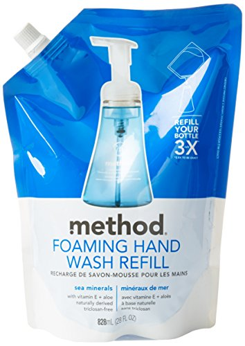 (Method Naturally Derived Foaming Hand Wash Refill, Sea Minerals, 28 Ounce)