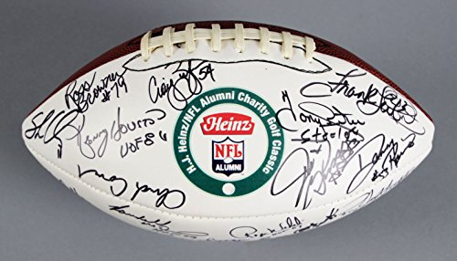 Heinz/NFL Alumni Charity Golf Classic Signed Football L.C. Greenwood,Lynn Swann - COA JSA