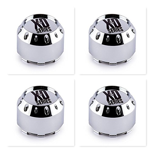 4 Pack KMC XD Series 464K106 Chrome Wheel Center Cap 6 Lug