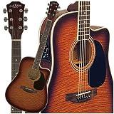 Carlo Robelli W4103FCS Acoustic Electric Guitar (Flame Coffee Burst)