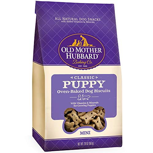 (Old Mother Hubbard Classic Crunchy Natural Puppy Treats, Mini Dog Biscuits, 20-Ounce Bag)