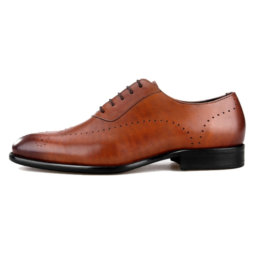 Zapatos Brogue Hombres Cuero Antideslizante Antideslizante Antideslizante Zapatos De Punta De Cuero Puntiagudos Zapatos De Vestir Talones De Cuero Real De Cuero Tallado 1b3366