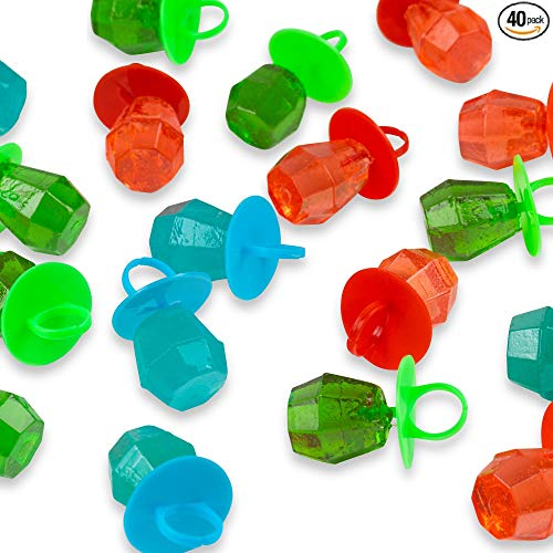Jewel Pop 40 Count Ring Shaped Candy Suckers | Individually Wrapped Bulk Variety Party Pack | Assorted Flavors]()