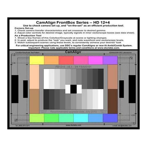 DSC Labs FrontBox 12+4 Test Chart - 12 Primary Colors, 11 Step Grayscale, 4 Skintones by DSC Labs