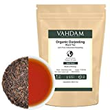 Organic ​Darjeeling​ Black Tea Leaves​ from Himalayas (200+ Cups), 100% Certified Pure Unblended Darjeeling, Packed at Source in India, 16-Ounce Bag (Grocery)