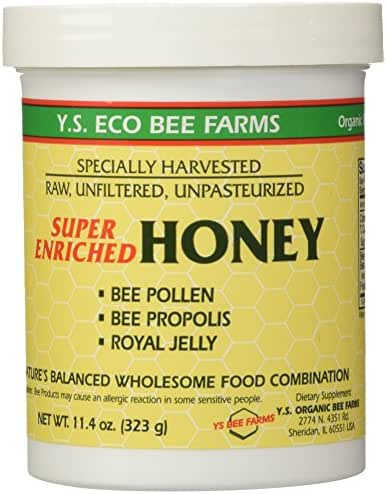 Enriched Honey YS Eco Bee Farms 11.4 Ounce (323 grams)