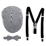 Boy's Matching Ivy Cap, Bow Tie, and Suspenders Set