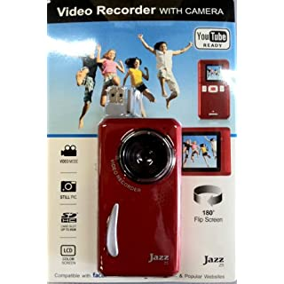 Jazz Red Z5 Video Recorder with Camera, Color Lcd, You Tube Ready, Facebook, Flickr, and Myspace