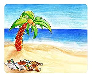 Beach Scene fashion Masterpiece Limited Design Oblong Mouse Pad by Cases & Mousepads