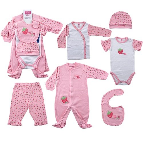 Hudson Baby 6-Piece Sweet Baby Layette Set