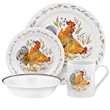 Corelle Impressions 16-Piece Stoneware Mugs, Country Morn