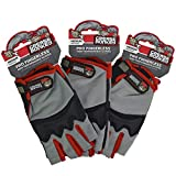Grease Monkey Pro Fingerless all purpose work gloves and workout gloves, 3 pack, Medium.