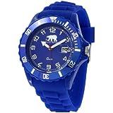 Arctic - Bleu H - Montre Homme - Quartz Analogique - Cadran Bleu - Bracelet Silicone Bleu