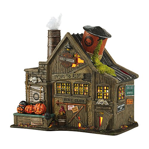 Harley-Davidson Ghost Riders' Club Dept 56 Halloween Building