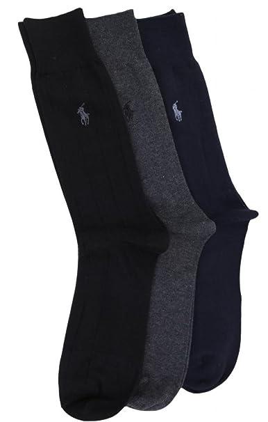 Polo Ralph Lauren - Calcetines cortos - para hombre Azul grey, black, navy: Amazon.es: Ropa y accesorios