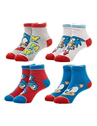 BioWorld Boy's Sega Sonic the Hedgehog Socks (4 Pair Pack)